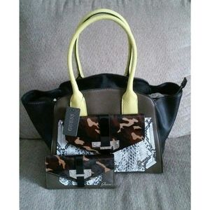 Olive Cow Fur G By Guess Tote